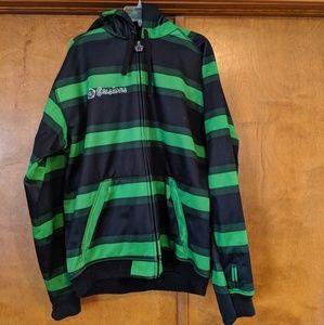 Green Black Men's Sessions Hooded Jacket, XL